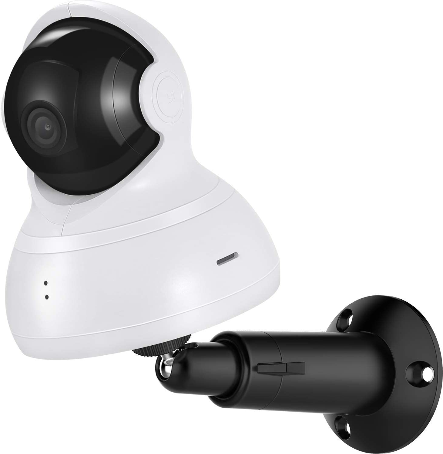Wall Mount for YI Dome Camera and YI Cloud Home Camera, 360 Degree Adjustable Security Bracket Holder for YI Cam (Camera Not Included) (Black)