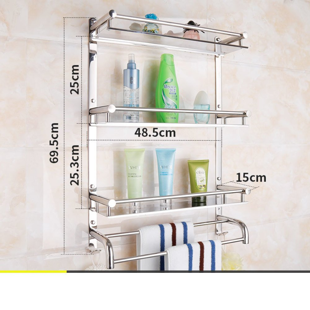 Beau New Stainless Steel Bathroom Shower Rack/towel Rack/ Bathroom Wall Mounted  Bathroom Accessories