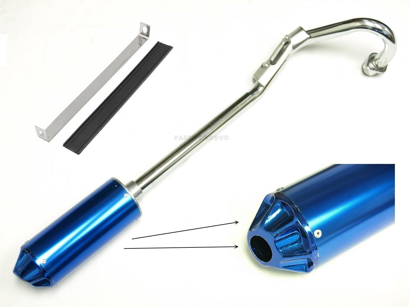 NEWANIME(R) HIGH PERFORMANCE ALL BLUE EXHAUST PIPE MUFFLER HONDA XR50 CRF50 SDG SSR 110 125cc