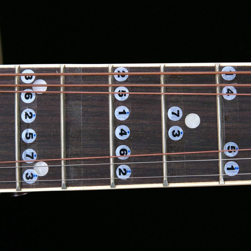 SUPVOX 1 Unids Guitarra Diapasón Notas Principiante 6 Cuerdas ...