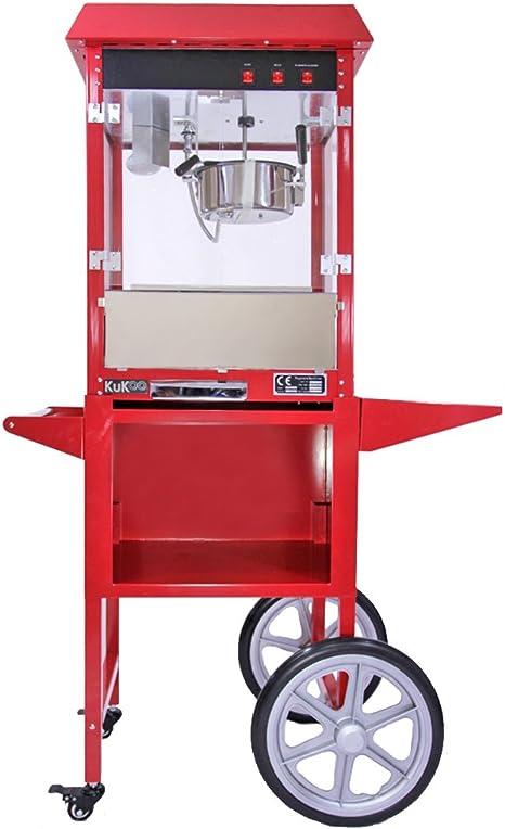 KUKOO - Máquina para Hacer Palomitas de Maíz 230g con Carrito: Amazon.es