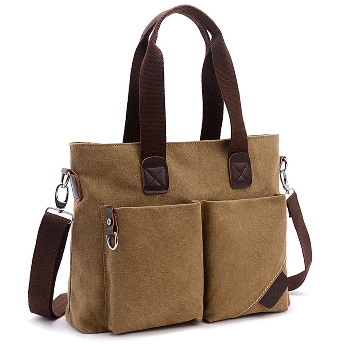 ToLFE Women Top Handle Satchel Handbags Tote Purse Shoulder Bag (Khaki-(Large)) by ToLFE (Image #2)