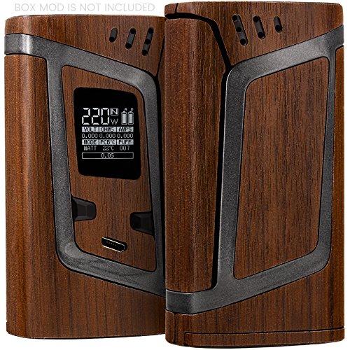 SMOK Alien 220w Skin - Premium Quality Protective Decal Kit - Ultra-Precise Fit Wrap + Bonus /Wood Brown