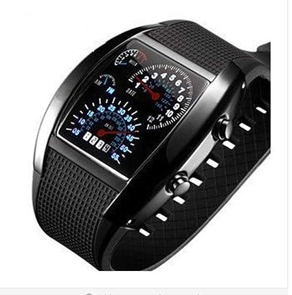 KUNDG Reloj De Hombre Reloj para Hombre Reloj Led Único para Hombres Reloj Digital Reloj Deportivo