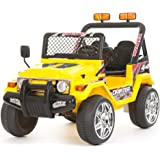 12v Electric Battery 2 Seater Kids 4 x 4 Jeep/Truck - Yellow - 618Y