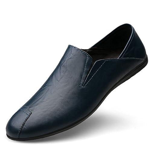 Zapatos de Hombre de Cuero Summer Fall Comfort Mocasines y Slip-Ons Zapatos de conducción
