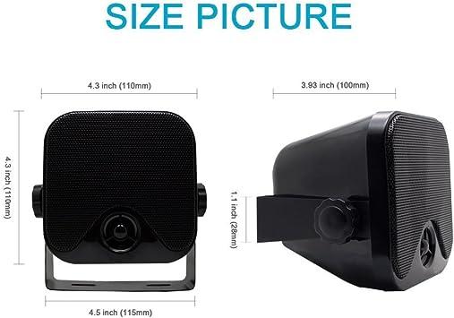 Herdio 100w 10 2 Cm Kompakter Wasserdichter Bluetooth Marine Stereo Box Lautsprecher Für Boot Atv Utv Heavy Duty Powersport Fahrzeuge Hof Schwarz Audio Hifi