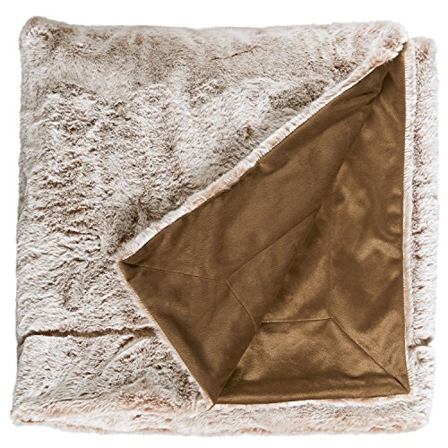 (Stone & Beam Faux Fur Throw Blanket, Soft and Luxurious, 80