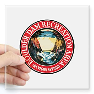 "CafePress Boulder Hoover Dam Rectangle Sticker Square Bumper Sticker Car Decal, 3""x3"" (Small) or 5""x5"" (Large)"