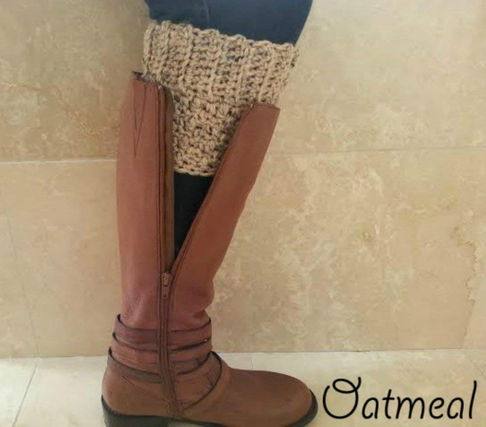 b1518ac1536 Extra Wide Calf Boot Cuffs Toppers for Women Oatmeal Peruvian Wool Made in  USA