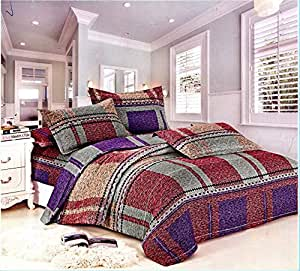Bedsheet with two pillow cover 3 Pieces Multi Color