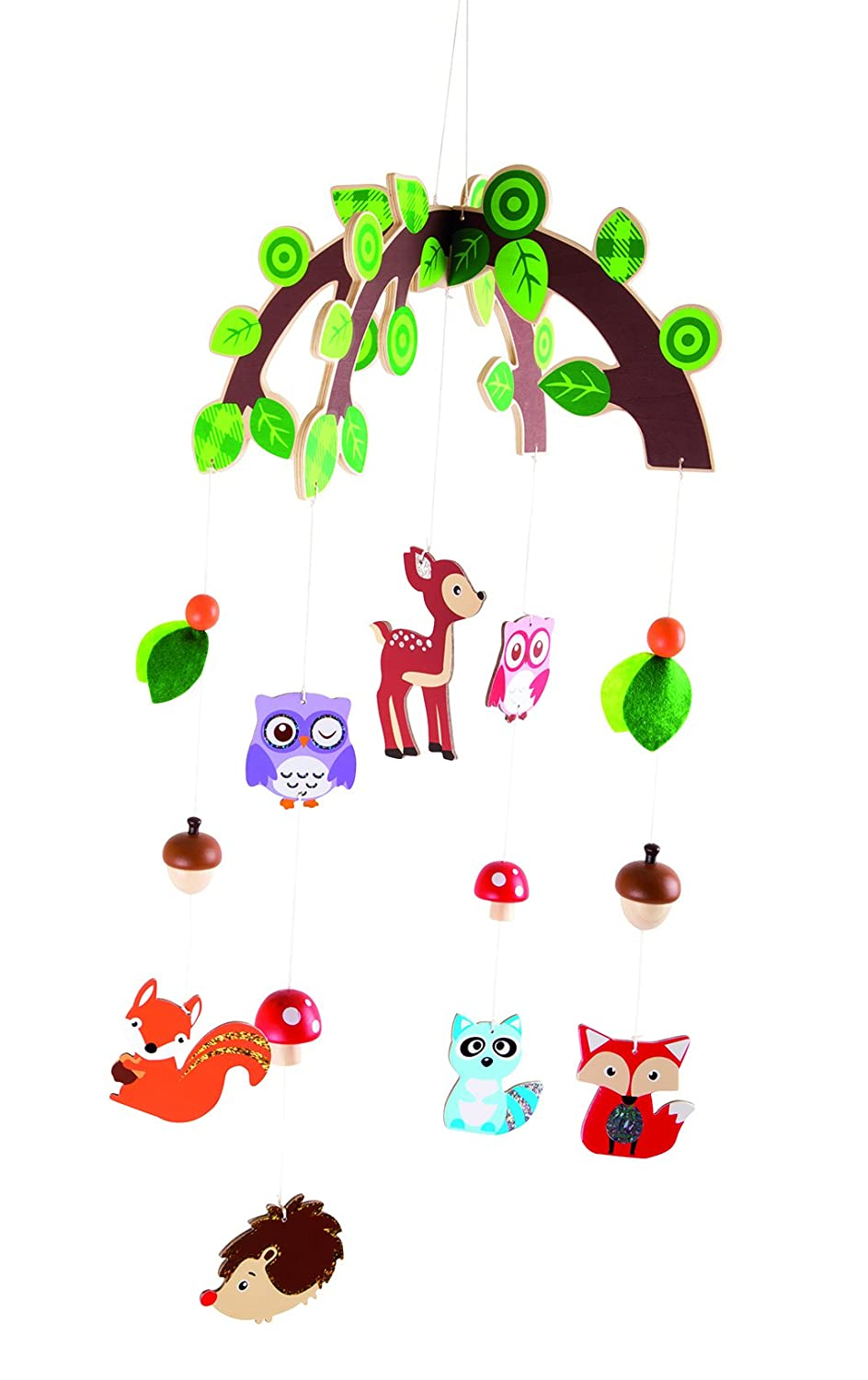 Checklife 904372, children's mobile Forest Animals, for the nursery, children's room children' s room