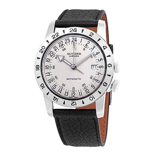 Glycine Airman Reloj para Hombre Analógico de Automático Suizo con Brazalete de Piel de Vaca GL0165: Amazon.es: Relojes