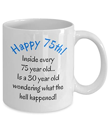 75th Birthday Gifts For Women Men Mom Dad Fun Christmas Gag Gift