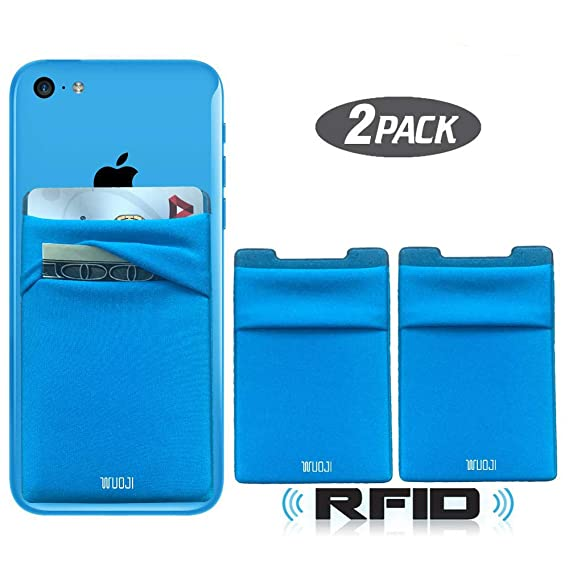4eb17b86e6bf [2pc] RFID Blocking Phone Card Wallet - Double Secure Pocket - Ultra-Slim  Self Adhesive Credit Card Holder Card Sleeves Phone Wallet Sticker All ...