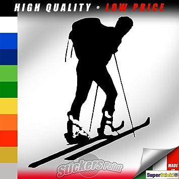 Supersticki Ski Fahrer Auto Aufkleber Ca 20cm Aufkleber