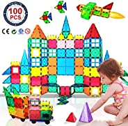HLAOLA Magnetic Blocks Upgrade Magnetic Building Blocks for Kids Magnetic Tiles 3D Magnetic Toys Educational S