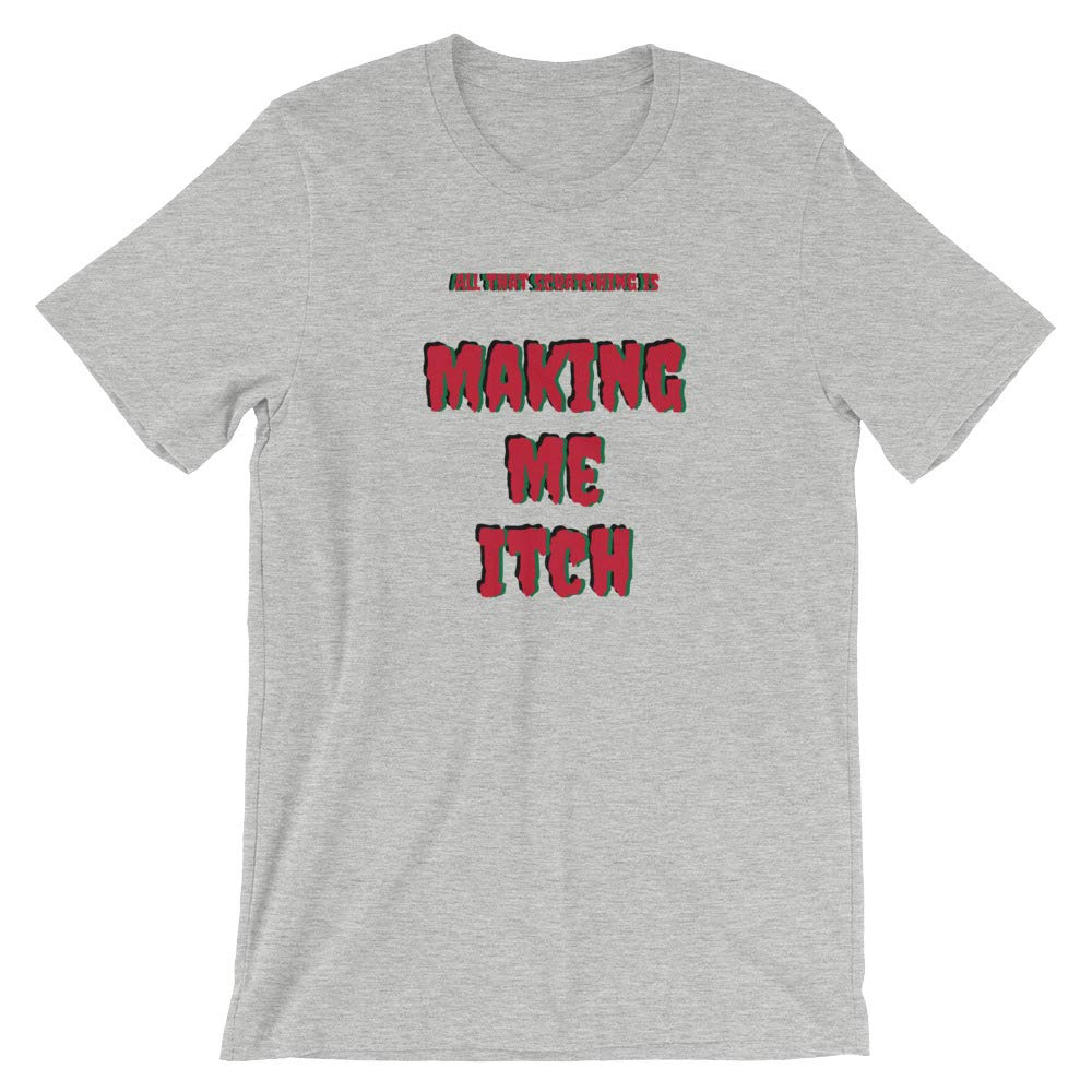 Sounds Fun Clothing All That Scratching is Making Me Itch Portablist Turntable Short-Sleeve Unisex T-Shirt