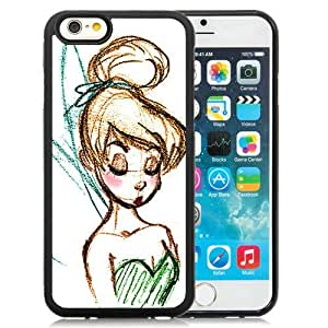 Fashionabe iPhone 6 4.7 Inch TPU Case ,Popular And Unique Designed Case With Disney Tinkerbell Black iPhone 6 Cover Phone Case
