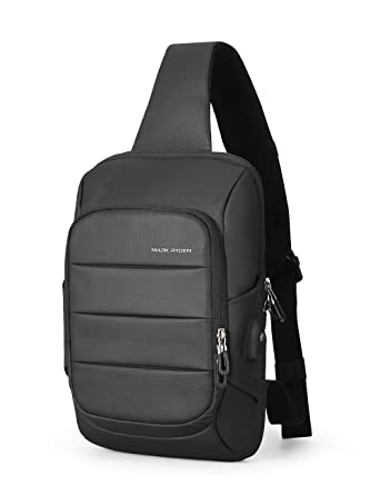74514bc635c2 Anti Theft Sling Bag Shoulder Chest Cross Body Backpack Lightweight Casual  Daypack (Black (new