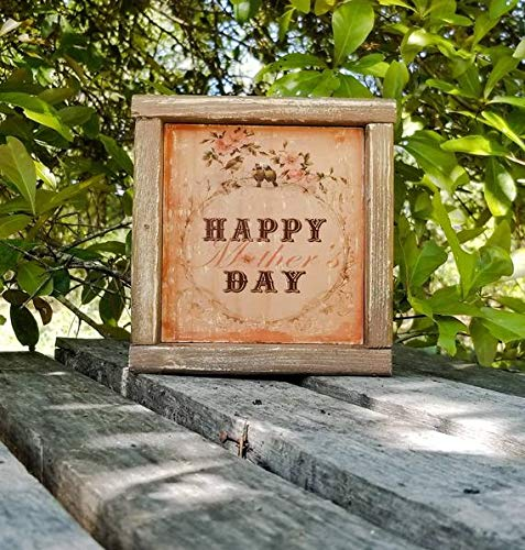 Wooden Hanging Plaque Sign Wood Gift Rustic Shabby Chic Inspirational Be Happy