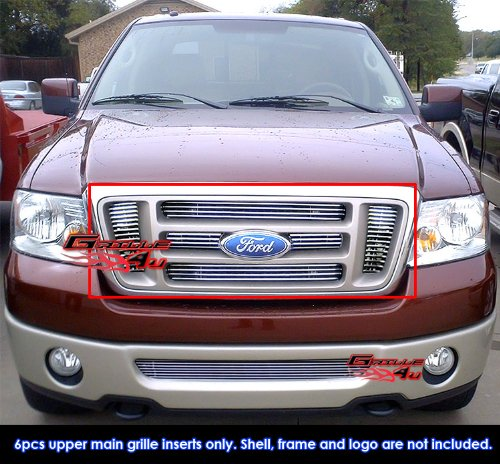 APS Fits 2004-2008 Ford F-150 Bar Style Main Upper Billet Grille Insert #F65726A