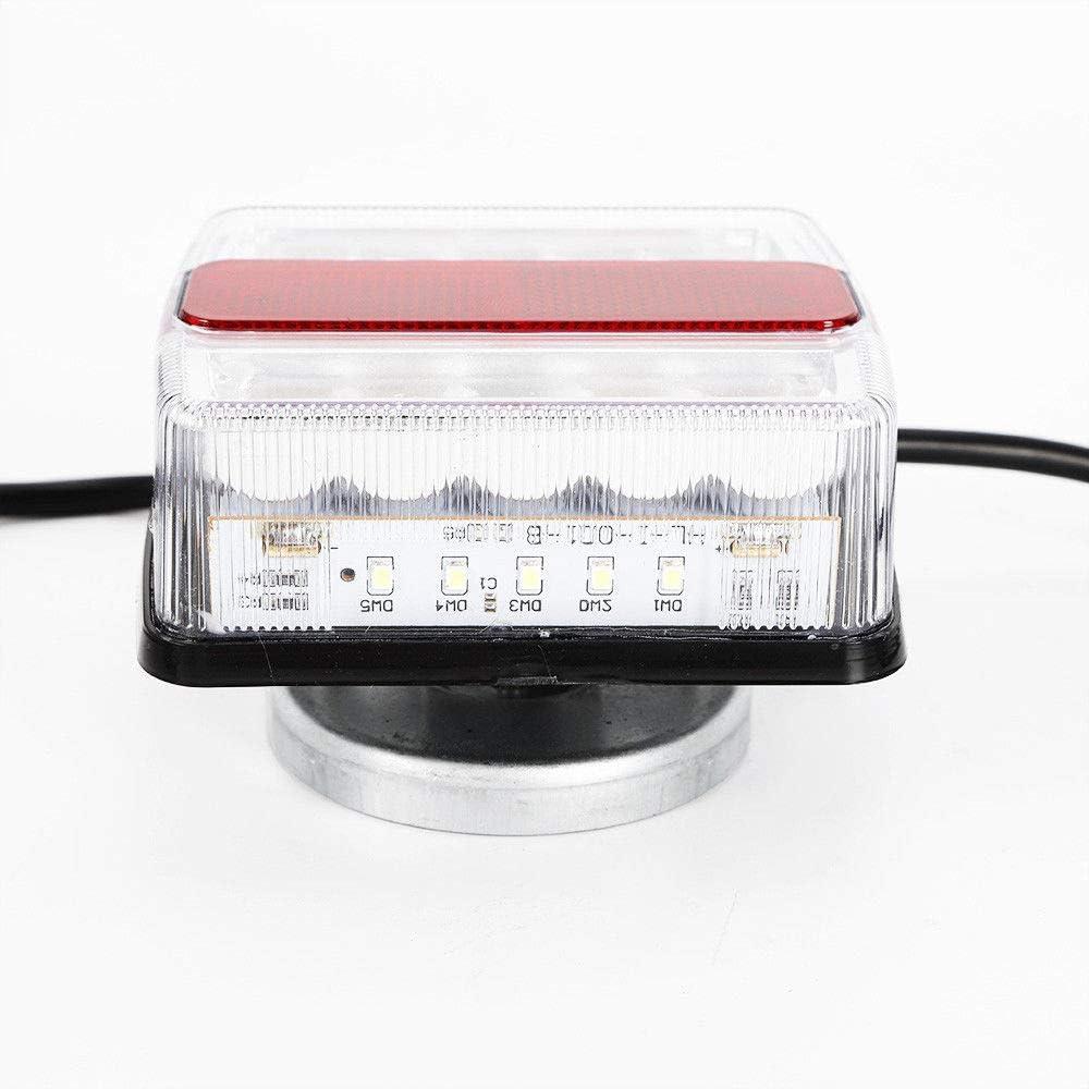 Feux arri/ère LED de 2 pi/èces avec lumi/ère arri/ère de 12 V pour feux arri/ère de Remorque de voiture Feux d/éclairage Remorque Connecteur 7 broches