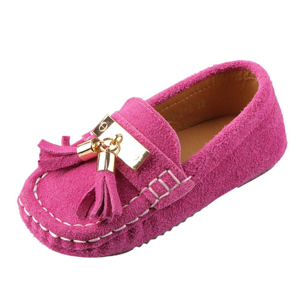 31124d7b376b6 Chic-Chic Chaussure Bateau Mocassin Enfant Bébé Loisirs Confort Chaussures  Fille Garçon Cuir Suédé Plates Oxford Mode Princesse