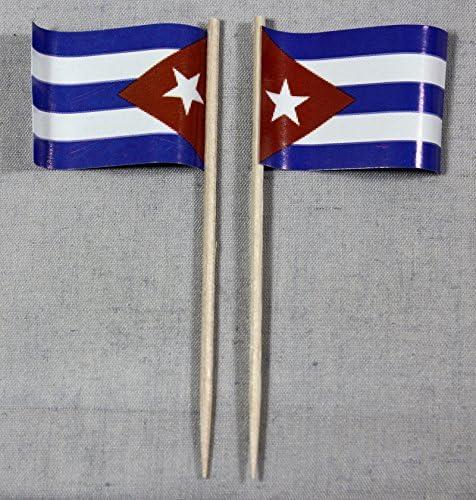 Bandera de Cuba fiesta-Picker banderitas de papel profesional 50 pcs bolsa offset selección de producción propia de la gigante: Amazon.es: Juguetes y juegos