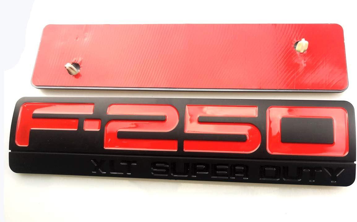 1Pack F250 Super Duty XLT Side Decal Fender Emblem 3D Badge Sticker Compatible For 2005-2011 F250 Xlt Chrome