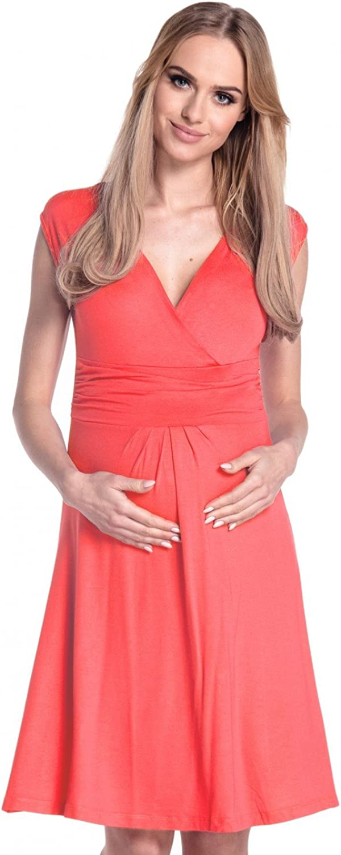 Happy Mama Donna Abito pr/émaman per LAllattamento Vestito Estivo Elegante 256p