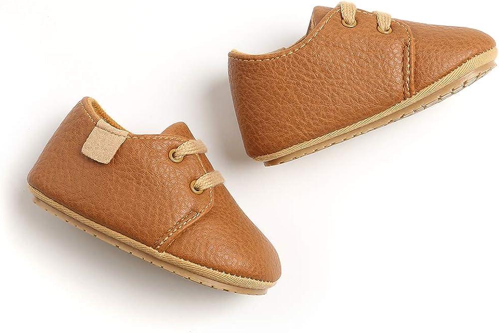 | BiBeGoiBabyBoysGirlsOxfordShoesPULeatherSoftRubberSoleSneakersAnti-SlipToddlerAnkleBootsInfantWalkingMoccasins | Sneakers