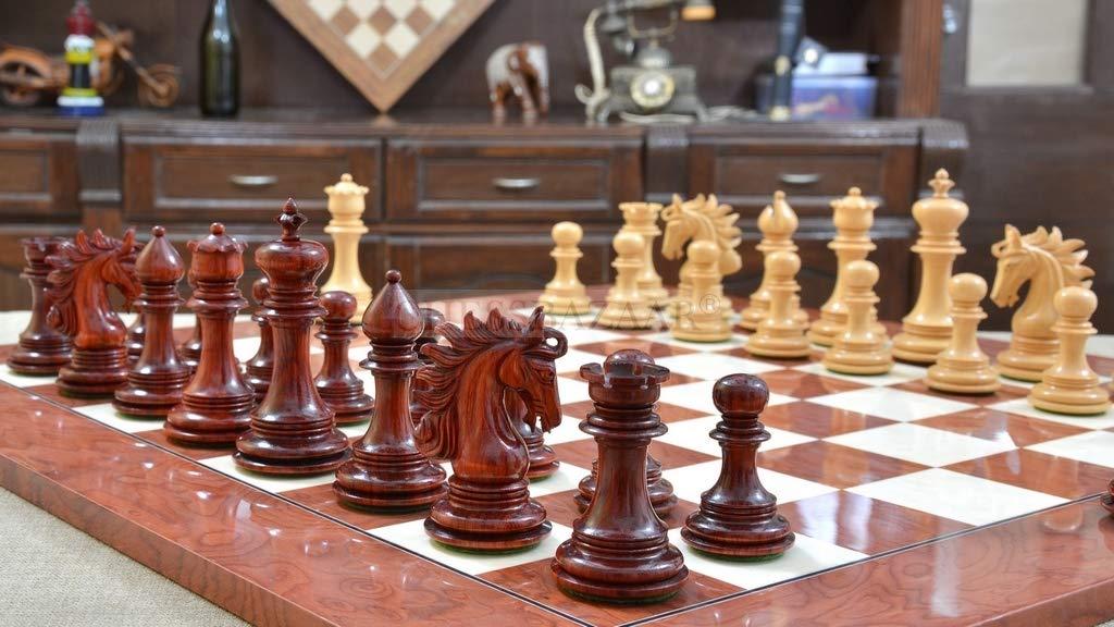 【信頼】 Chessbazaar B076F3J3FD Combo of Chessbazaar Arabian Knight Series Artisan Staunton & Chess Pieces in Bud Rose & Boxwood & Red Ash Burl Board - B076F3J3FD, 株式会社美濃商会:3a354611 --- nicolasalvioli.com