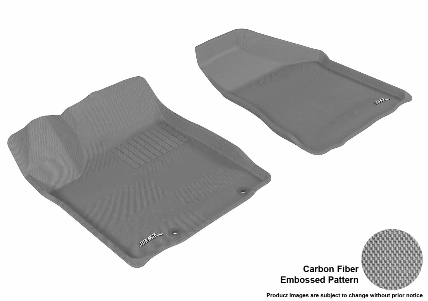 Gray L1NS01721501 3D MAXpider Second Row Custom Fit All-Weather Floor Mat for Select Nissan Murano Models Kagu Rubber