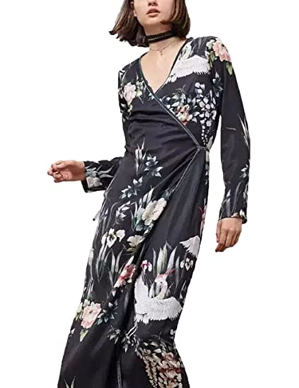 Blusa Larga para Las Mujeres de Moda, Blusa con Estilo de Kimono de Mangas largas