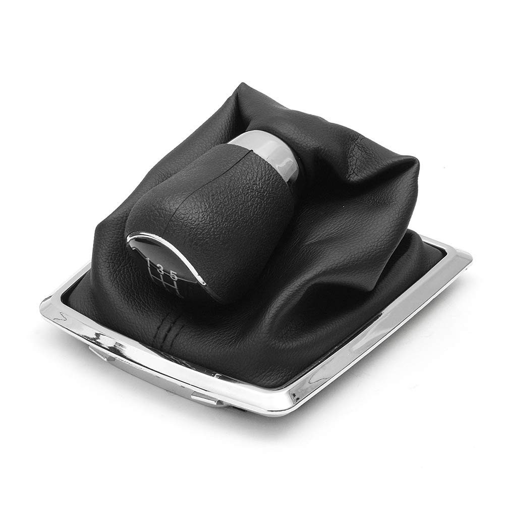 longyitrade Perilla de Cambio de Marchas Manual para 1 PC,Palanca de Cambios de 5 velocidades con Pieza de Repuesto para la Cubierta de la Bota para Ford Focus MK2