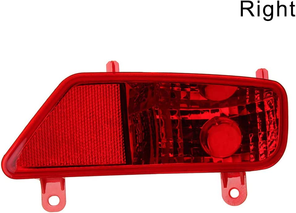 1Pair Rear Bumper Reflector LED Fog Tail Stop Brake Light DRL for Peugeot 3008 09-16 Avalita Rear Tail Bumper Fog Light Lamp