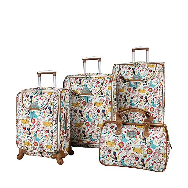 966c3b8bd28e Lily Bloom Luggage Set 4 Piece Suitcase Collection With Spinner ...