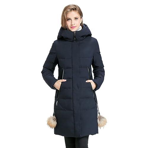 Chaqueta Con Capucha De Parka Con Cuello Grueso De Señora Winter Coat Para Mujer Y170005