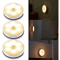 Cadrim 3 stuks lamp met bewegingsmelder, kastlamp, led-nachtlampje, draadloos, oplaadbaar, nachtlampje voor vitrines…