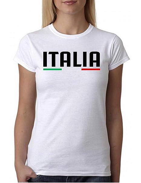 DonnaAmazon Wixsoo Tricolore Maglietta Italia Shirt it T OiXuPkZ