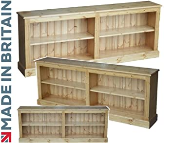 detailed look 541e6 b67ae Solid Pine Bookcase, 6ft Wide Low Adjustable Display Storage Shelving Unit,  Bookshelves. Choice of Colours. No flat packs, No assembly (BK13)
