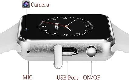 Amazon.com: Aeifond Reloj inteligente con pantalla táctil ...