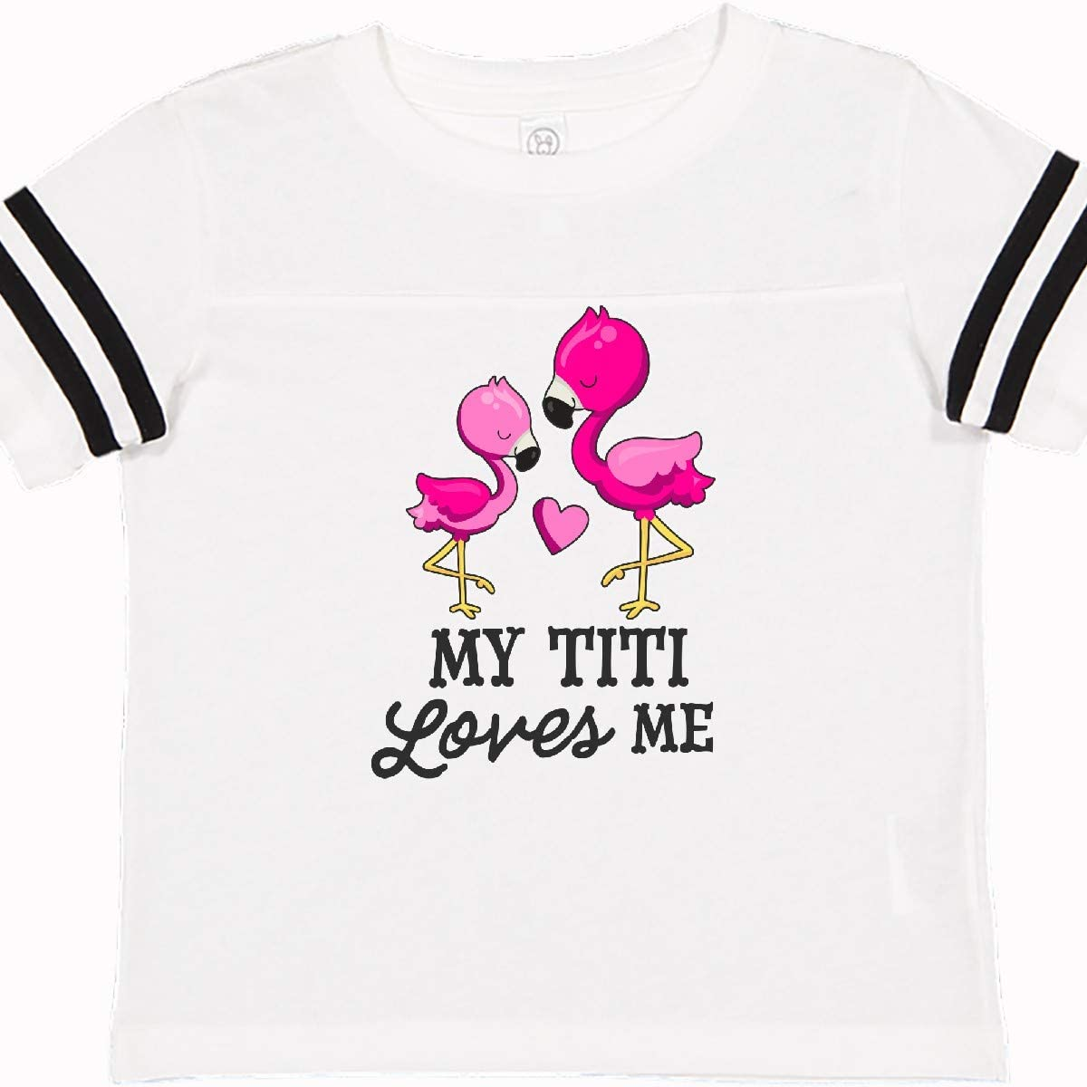 inktastic My Big Bro Loves Me with Flowers and Hearts Baby T-Shirt