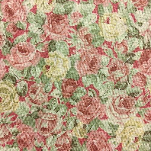 Tela por metros para Patchwork - 100% algodón - 110 cm ancho - Largo a elección de 50 en 50 cm | Rosa con rosas: Amazon.es: Hogar