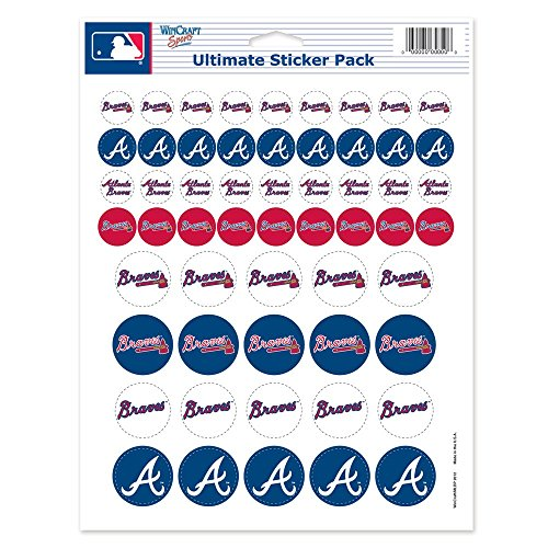 Mlb Decal Atlanta Braves (MLB Atlanta Braves Vinyl Sticker Sheet, 8.5