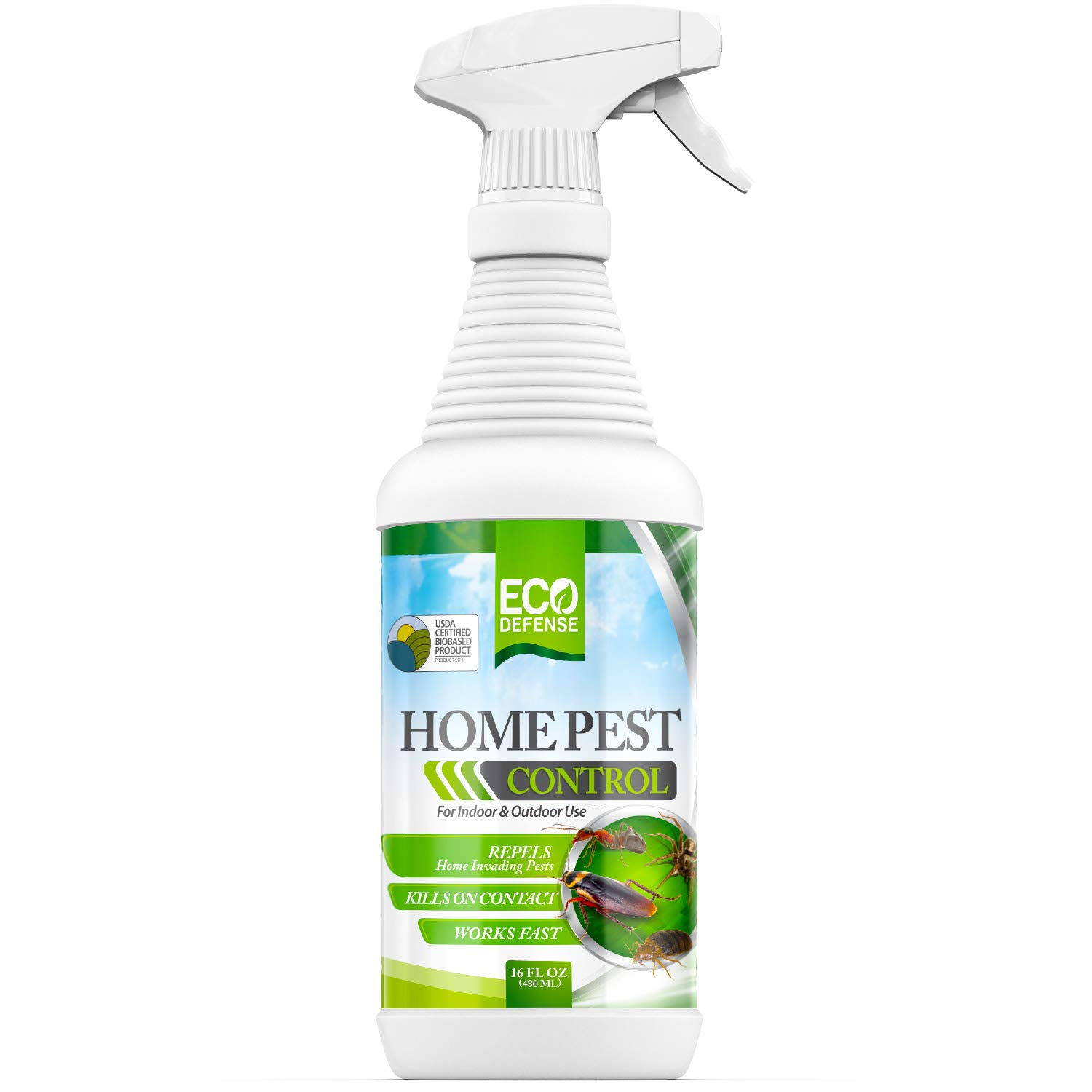 Eco Defense Home Pest Control Spray, USDA Biobased (16 oz)
