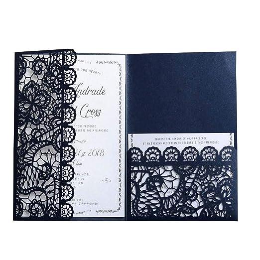 JXS-Wedding Kit de Tarjetas de invitación de Boda con Sobres ...