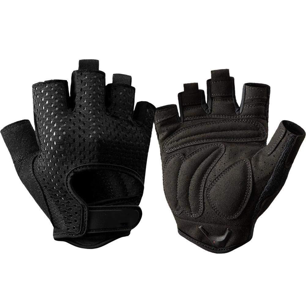 Yunfeng Fitness-Handschuhe Halbe Fingeratmungsaktiv Abriebfest Anti-Rutsch Handschuhe Halbe Fingerhandschuhe