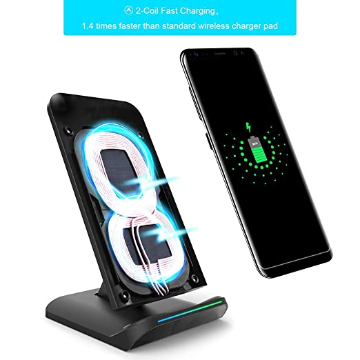 Amazon.com: Qweryboo iPhone X Wireless Charger,Fast Wireless Charger Charging Pad Stand for Galaxy S9/S9 Plus Note 8/5 S8/S8 Plus S7/S7 Edge S6 Edge Plus, ...